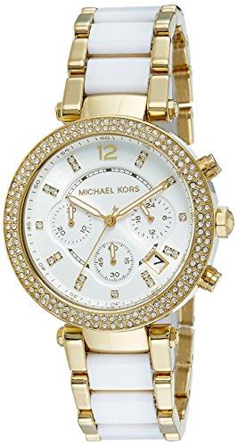 【当店1年保証】マイケルコースMichael Kors Women's Parker White Watch MK6119