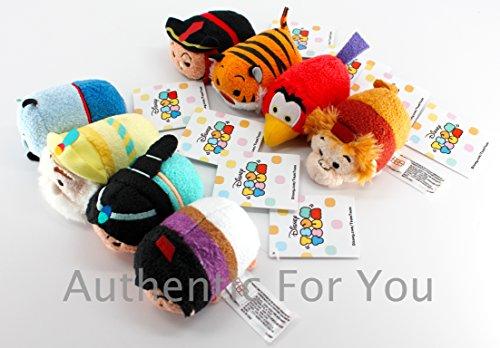 """アラジン ジャスミン ディズニープリンセス US Disney Parks Aladdin Tsum Tsum Complete Set of 8 Mini 3.5"""" Plush Dollsアラジン ジャスミン ディズニープリンセス"""