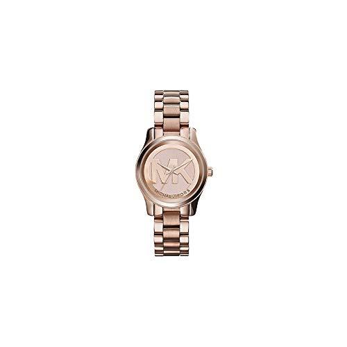 【当店1年保証】マイケルコースMichael Kors Women's Mini Runway Rose Gold-tone Stainless Steel Bracelet Watch 33mm M