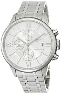����Ź��ǯ�ݾڡۥƥ���TissotMen's'T-Classic'SwissAutomaticStainlessSteelCasualWatch,Color:Silver-Toned(Model: