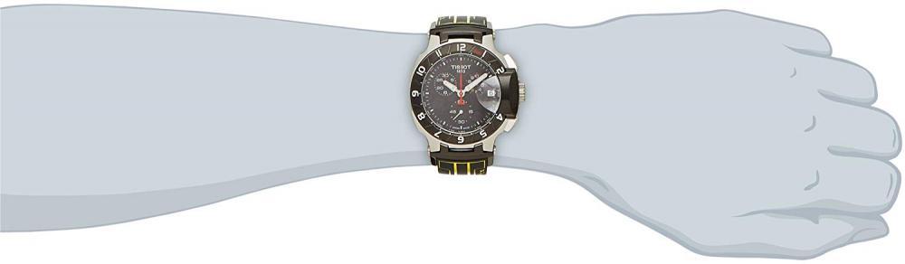 ティソ 腕時計 メンズ T0484172705103 Tissot Black Dial SS Rubber Chronograph Quartz Men's Watch T0484172705103ティソ 腕時計 メンズ T0484172705103