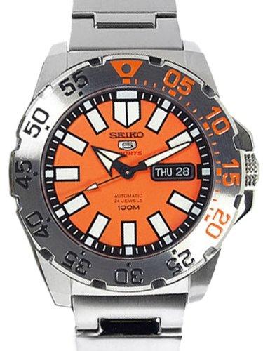 セイコー 腕時計 メンズ SRP483 Seiko Baby Monster Automatic Orange Dial Stainless Steel Men's Watch SRP483セイコー 腕時計 メンズ SRP483