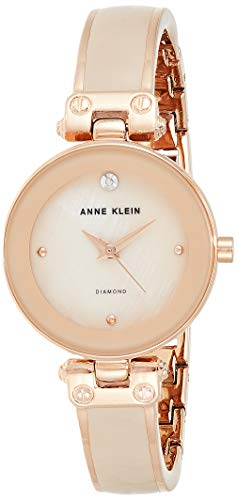 アンクライン 腕時計 レディース AK/1980BMRG Anne Klein Women's AK/1980BMRG Diamond-Accented Dial Blush Pink and Rose Gold-Tone Bangle Watchアンクライン 腕時計 レディース AK/1980BMRG