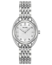 【当店1年保証】ブローバBulovaWomen'sQuartzStainlessSteelCasualWatch,Color:Silver-Toned(Model:96R212)