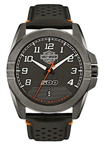 ブローバ 腕時計 メンズ 78B143 Harley-Davidson Men's B&S Rugged Stainless Steel Watch, Gunmetal Finish 78B143ブローバ 腕時計 メンズ 78B143