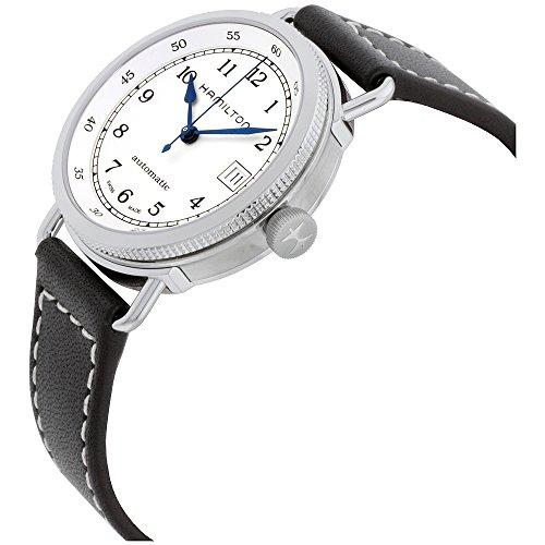 ハミルトン 腕時計 レディース H78215553 Hamilton Khaki Silver Dial Leather Strap Automatic Ladies Watch H78215553ハミルトン 腕時計 レディース H78215553