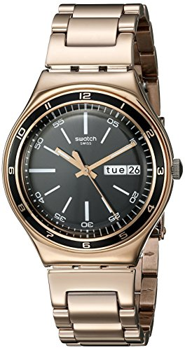 スウォッチ 腕時計 メンズ YGG704G Swatch Unisex YGG704G Charcoal Medal Rose Analog Display Quartz Rose Gold Watchスウォッチ 腕時計 メンズ YGG704G