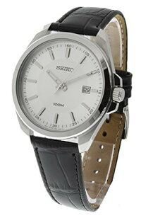 セイコー腕時計メンズSUR065SeikoSilverDialBlackLeatherMensWatchSUR065セイコー腕時計メンズSUR065