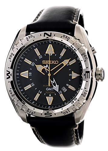 セイコー 腕時計 メンズ 夏のボーナス特集 SUN053 Seiko Mens Kinetic GMT Sports 100M  Watch with Black Calf Leather SUN053P1セイコー 腕時計 メンズ 夏のボーナス特集 SUN053