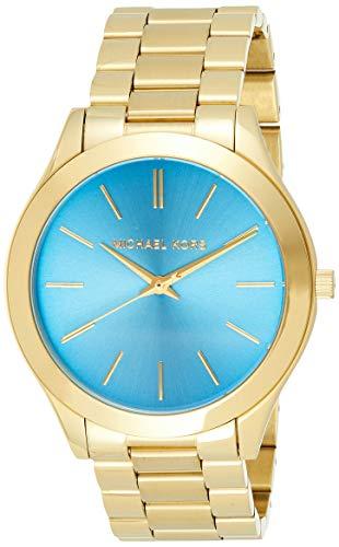 【当店1年保証】マイケルコースMichael Kors MK3265 Women's Slim Runway Gold-Tone Stainless Steel Bracelet Watch