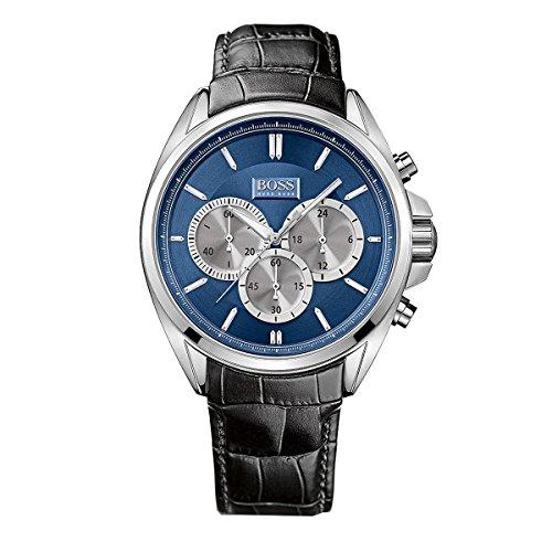 ヒューゴボス 高級腕時計 メンズ 1512882 Hugo Boss Watch, Men's Chronograph Black Leather Strap 47mm 1512882ヒューゴボス 高級腕時計 メンズ 1512882