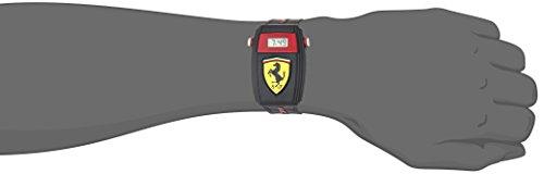 【当店1年保証】フェラーリScuderia Ferrari Quartz Resin and Silicone Casual Watch, Color:Black (Model: 0810012)