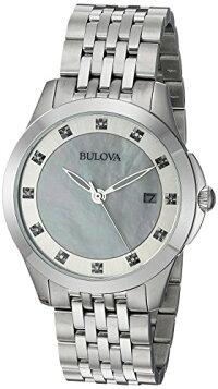 【当店1年保証】ブローバBulovaWomen'sQuartzStainlessSteelCasualWatch,Color:Silver-Toned(Model:96P174)