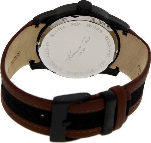 【当店1年保証】ケネスコール・ニューヨークKenneth Cole Men's KC1764 Two-Tone Leather Quartz Watch with Brown