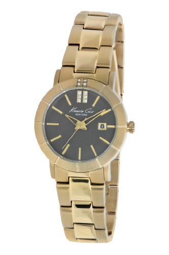 【当店1年保証】ケネスコール・ニューヨークKenneth Cole New York Round Gold Link Strap Women's watch #KC4885