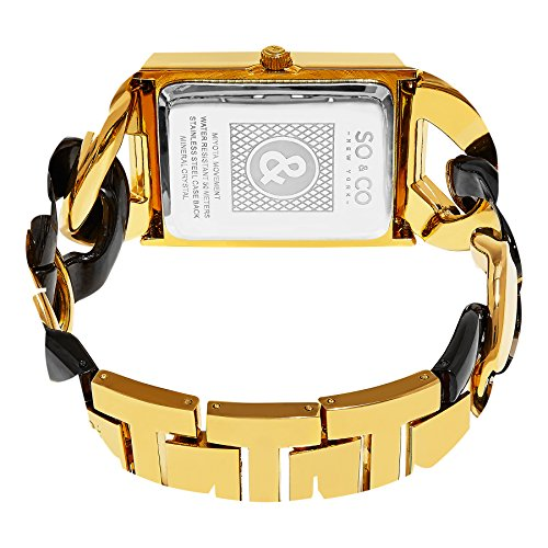SO&CO ニューヨーク 腕時計 レディース 5094.5 SO&CO New York Women's 'SoHo' Quartz Metal and Stainless Steel Dress Watch, Color:Two Tone (Model: 5094.5)SO&CO ニューヨーク 腕時計 レディース 5094.5