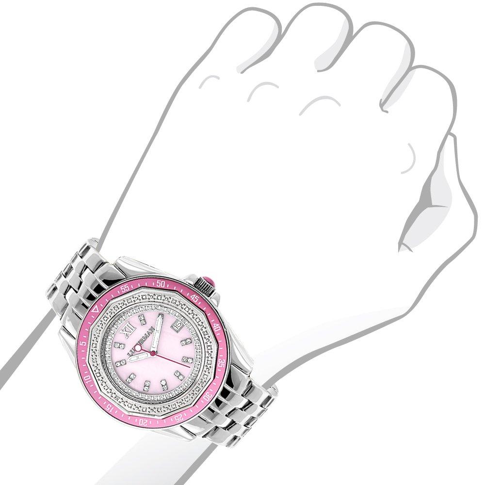 ラックスマン 腕時計 レディース 4331798168 Ladies Diamond Watch 0.25ct Pink MOP LUXURMANラックスマン 腕時計 レディース 4331798168
