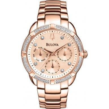 ブローバ 腕時計 レディース 98W178 Bulova 98W178 Ladies Diamond Rose Gold Plated Chronograph Watchブローバ 腕時計 レディース 98W178