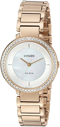 シチズン 逆輸入 海外モデル 海外限定 アメリカ直輸入 EM0483-54D Citizen Women's Silhouette Crystal Japanese-Quartz Watch with Stainless-Steel Strap, Rose Gold, 10 (Model: EM0483-54Dシチズン 逆輸入 海外モデル 海外限定 アメリカ直輸入 EM0483-54D