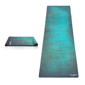 ヨガマット フィットネス 0646648208066 YOGA DESIGN LAB | The Travel Yoga Mat | 2-in-1 Mat+Towel | Lightweight, Foldable, Eco Luxury | Ideal Hot Yoga, Bikram, Pilates, Barre, Sweat | 1mm Thick | Includes Carrying Sヨガマット フィットネス 0646648208066