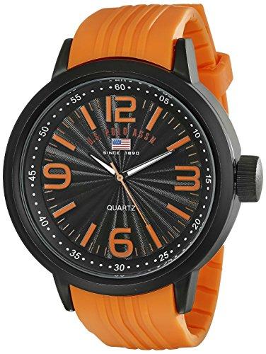 ユーエスポロアッスン 腕時計 メンズ US9053 U.S. Polo Assn. Sport Men's US9053 Stainless Steel Watch with Orange Bandユーエスポロアッスン 腕時計 メンズ US9053