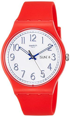腕時計, メンズ腕時計  SUOR707 Swatc Unisex Red Me Up Quartz 41 Mm Wrist Watch Suor707 SUOR707