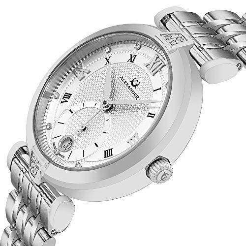 フレデリックコンスタント フレデリック・コンスタント 腕時計 レディース AD202B-01 Alexander Monarch Olympias Date DIAMOND Silver Large Face Watch For Women - Swiss Quartz Sフレデリックコンスタント フレデリック・コンスタント 腕時計 レディース AD202B-01