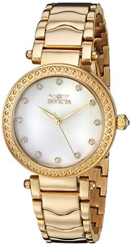 腕時計, レディース腕時計  23964 Invicta Womens Wildflower Quartz Watch with Stainless-Steel Strap, Gold, 18 (Model: 23964) 23964