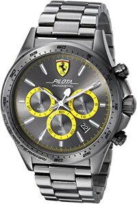 フェラーリ腕時計メンズ0830391ScuderiaFerrariMen's'PILOTA'QuartzResinCasualWatch,Color:Grey(Model:0830391)フェラーリ腕時計メンズ0830391