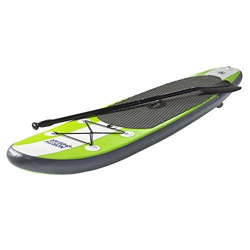 スタンドアップパドルボード マリンスポーツ サップボード SUPボード 夏のアクティビティ特集 North Gear 8FT Inflatable SUP Stand up Paddle Board Package White/Lime Greスタンドアップパドルボード マリンスポーツ サップボード SUPボード 夏のアクティビティ特集