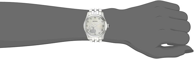 【当店1年保証】ブローバBulovaWomen'sQuartzStainlessSteelCasualWatch,Color:Silver-Toned(Model:96P182)