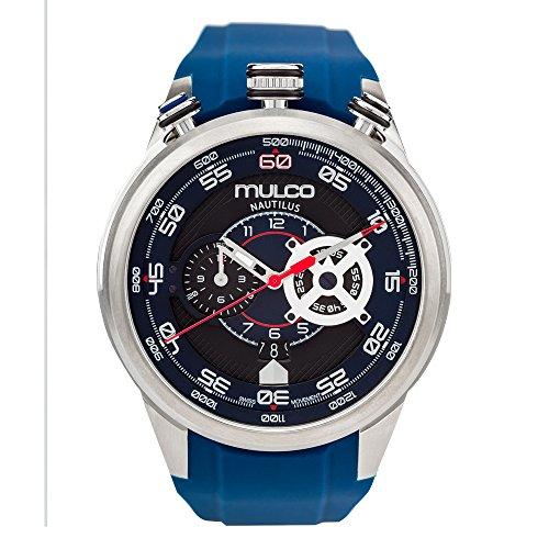 マルコ 腕時計 メンズ MW7-3754-041 Mulco Nautilius Quartz Swiss Chronograph Movement Men's Watch | Premium Analog Display with Steel Accents | Blue Watch Band | Water Resistant Stainless Steel Watch | MW7-3754-041マルコ 腕時計 メンズ MW7-3754-041