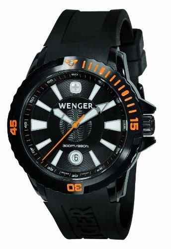 ウェンガー スイス アーミーナイフ メンズ 腕時計 78275 Wenger Men's 78275 GST Diver Black Rubber Strap Watchウェンガー スイス アーミーナイフ メンズ 腕時計 78275