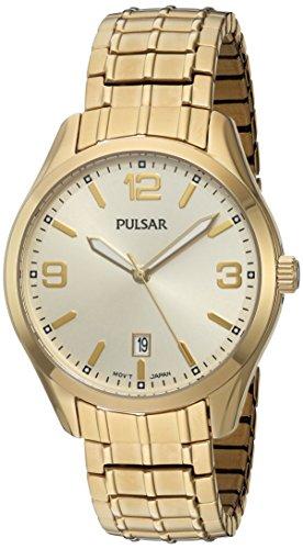 パルサー SEIKO セイコー 腕時計 メンズ PS9488 Pulsar Men's Quartz Brass and Stainless Steel Dress Watch, Color:Gold-Toned (Model: PS9488)パルサー SEIKO セイコー 腕時計 メンズ PS9488