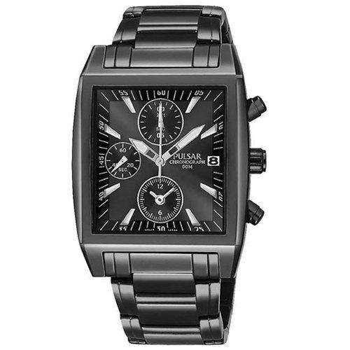 パルサー SEIKO セイコー 腕時計 メンズ PF8137 Pulsar Men's PF8137 Chronograph Black Ion Plated Stainless Steel Watchパルサー SEIKO セイコー 腕時計 メンズ PF8137