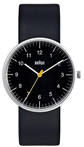 ブラウン 腕時計 メンズ BN-21BKG Braun Men's Analog Watch Black Face, Black Leather Band 38mmブラウン 腕時計 メンズ BN-21BKG