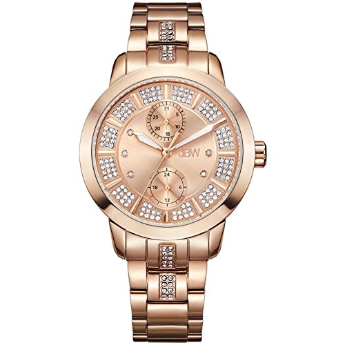 高級腕時計 レディース J6341E JBW Luxury Women's Lumen Diamond & Swarovski Crystal Wrist Watch with Stainless Steel Bracelet高級腕時計 レディース J6341E