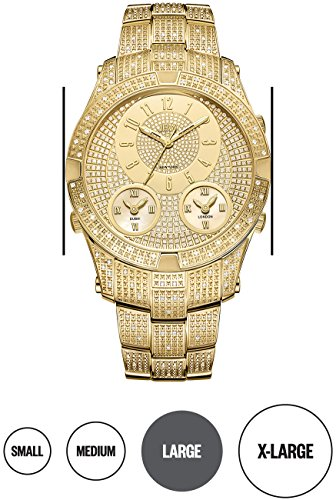 高級腕時計 メンズ J6348A JBW Luxury Men's Jet Setter III 1.18 ctw Diamond Wrist Watch with Stainless Steel Link Bracelet高級腕時計 メンズ J6348A