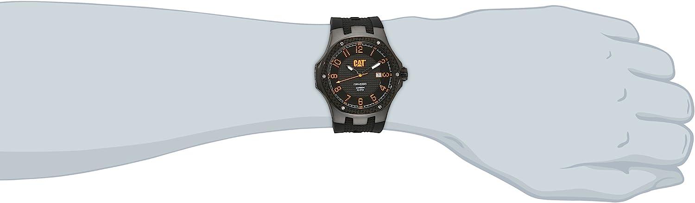 キャタピラー タフネス 腕時計 メンズ 頑丈 A516121111 CAT WATCHES Men's A516121111 Carbon Analog Display Quartz Black Watchキャタピラー タフネス 腕時計 メンズ 頑丈 A516121111