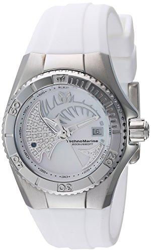 テクノマリーン 腕時計 メンズ TM-115256 Technomarine Women's Cruise Stainless Steel Quartz Watch with Silicone Strap, White, 16 (Model: TM-115256)テクノマリーン 腕時計 メンズ TM-115256