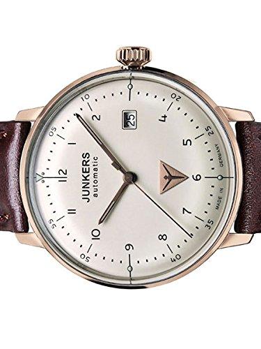ユンカース ドイツ 腕時計 メンズ 6058-4 Junkers Bauhaus Swiss Automatic Watch with Domed Hesalite Crystal 6058-4ユンカース ドイツ 腕時計 メンズ 6058-4