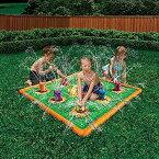 フロート プール 水遊び おもちゃ Banzai Smash and Splash Wack A Mole Gopher Field Water Sprinkle Play Matフロート プール 水遊び おもちゃ