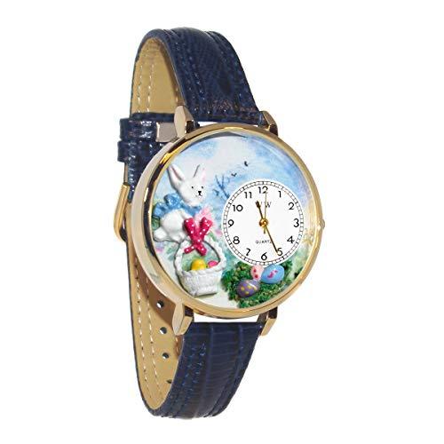 気まぐれな腕時計 かわいい プレゼント クリスマス ユニセックス WHIMS-G1220016 Whimsical Watches Women's G-1220016 Easter Eggs Baby Blue Leather Watch気まぐれな腕時計 かわいい プレゼント クリスマス ユニセックス WHIMS-G1220016