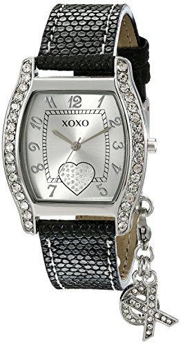 """クスクス キスキス 腕時計 レディース XO3089 XOXO Women's XO3089 Black Lizard Strap with """"XO"""" Charm Watchクスクス キスキス 腕時計 レディース XO3089"""