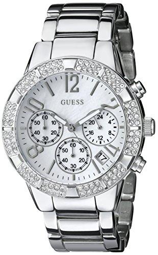 ゲス GUESS 腕時計 レディース U0141L1 GUESS Women's U0141L1 Dazzling Silver-Tone Sporty Crystal Chronograph Watchゲス GUESS 腕時計 レディース U0141L1