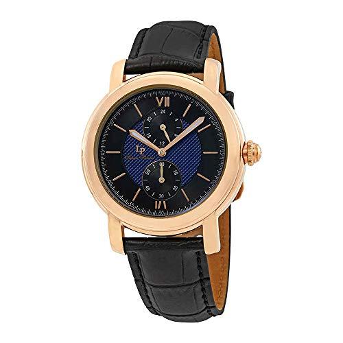 ルシアンピカール 腕時計 メンズ LP-40026-RG-03-BC Lucien Piccard Men's 'Spiga' Quartz Stainless Steel and Leather  Watch, Color:Black (Model: LP-40026-RG-03-BC)ルシアンピカール 腕時計 メンズ LP-40026-RG-03-BC