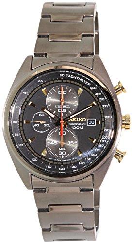 セイコー 腕時計 メンズ SNDF91P1 Seiko Men's SNDF91 Chronograph Black Dial Black Stainless Steel Bandセイコー 腕時計 メンズ SNDF91P1