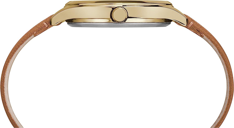 タイメックス 腕時計 レディース TW2R27900 Timex Women's TW2R27900 Peyton Brown/Gold-Tone Leather Strap Watchタイメックス 腕時計 レディース TW2R27900