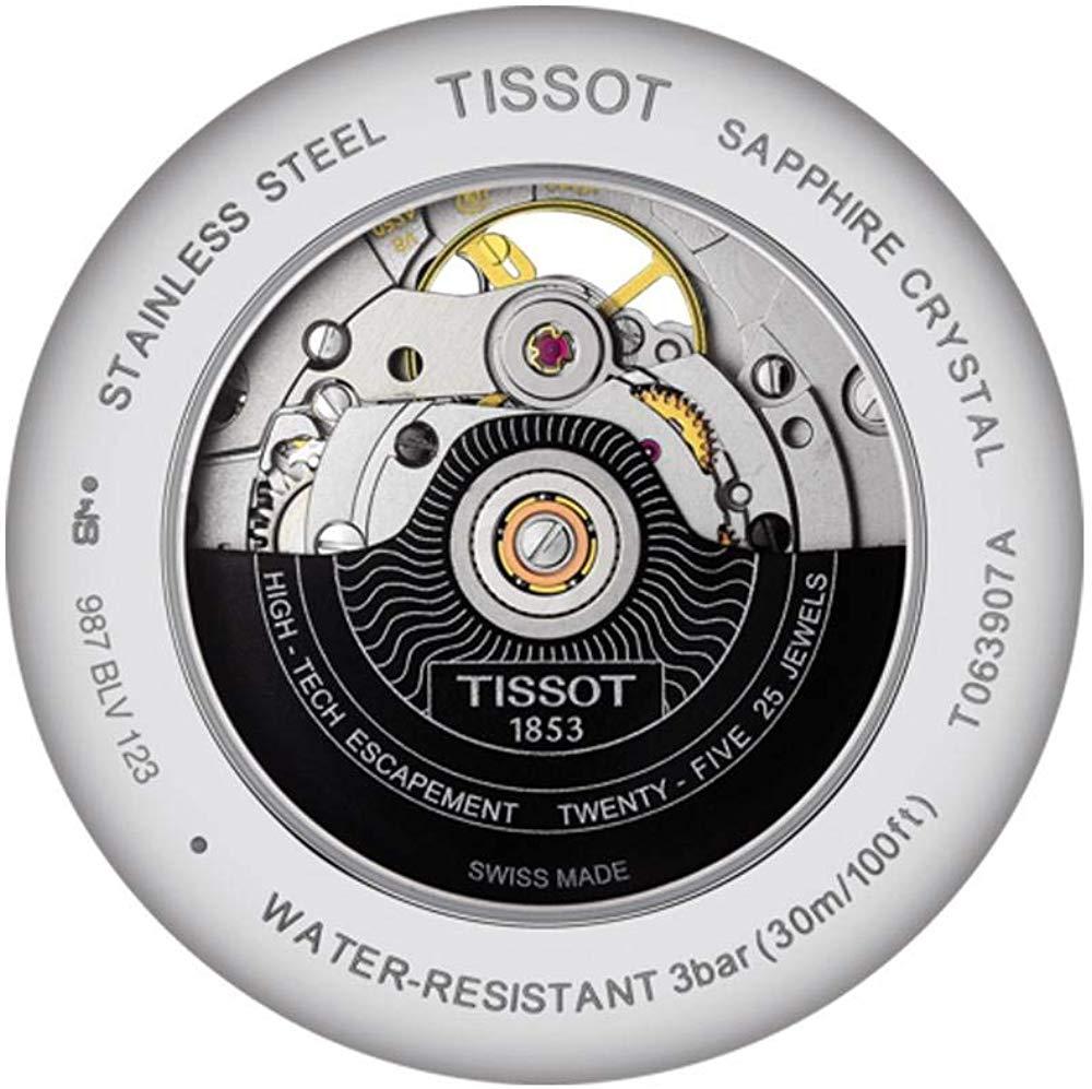 ティソ 腕時計 メンズ T0639071605800 Tissot Men's Tradition Powermatic 80 Open Heart - T0639071605800 Black/Black One Sizeティソ 腕時計 メンズ T0639071605800