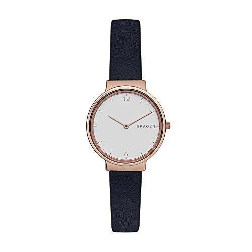 スカーゲン 腕時計 レディース SKW2608 Skagen Women's Ancher Quartz Stainless Steel and Leather Casual Watch Color: Rose Gold Blue (Model: SKW2608)スカーゲン 腕時計 レディース SKW2608